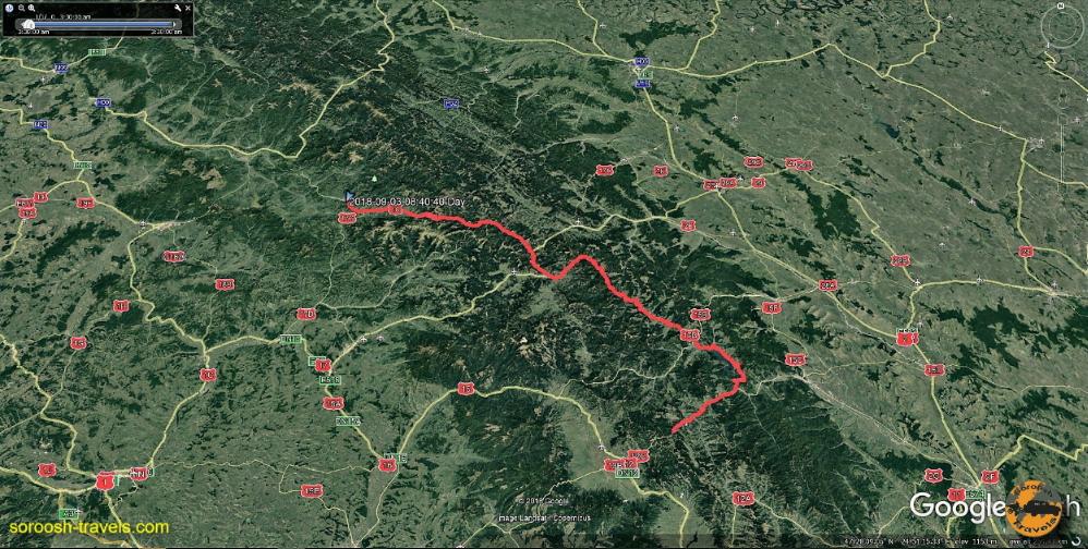 قسمتی از مسیر طی شده ما در کشور رومانی - ۱۲ شهریور ۱۳۹۷