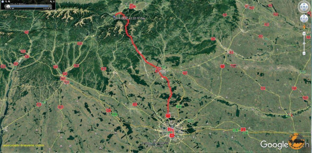 مسیر برن به بخارست - رومانی - ۱۶ شهریور ۱۳۹۷