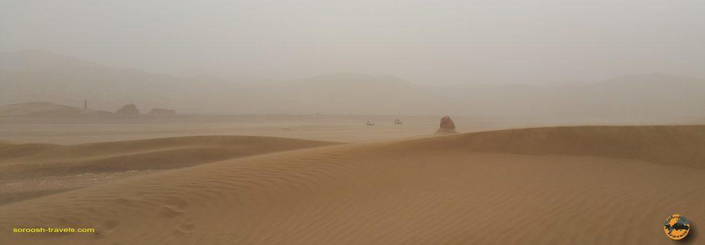 طوفان شن در کویر لوت