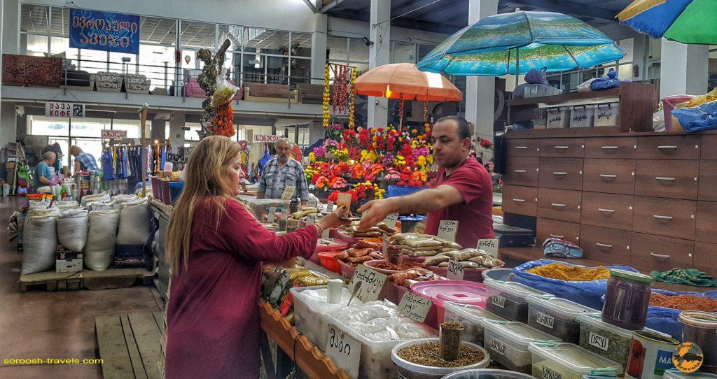 بازار شهر آخالت سیخه در گرجستان