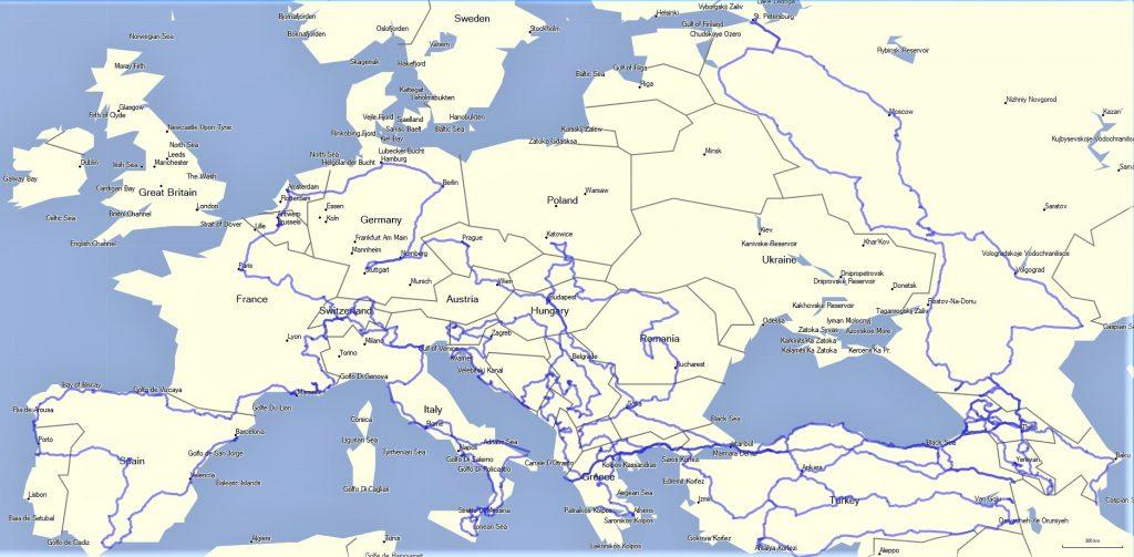 خط سیر سفرهای خارجی