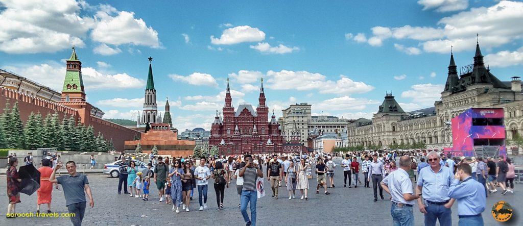 میدان سرخ در مسکو - تابستان 1398