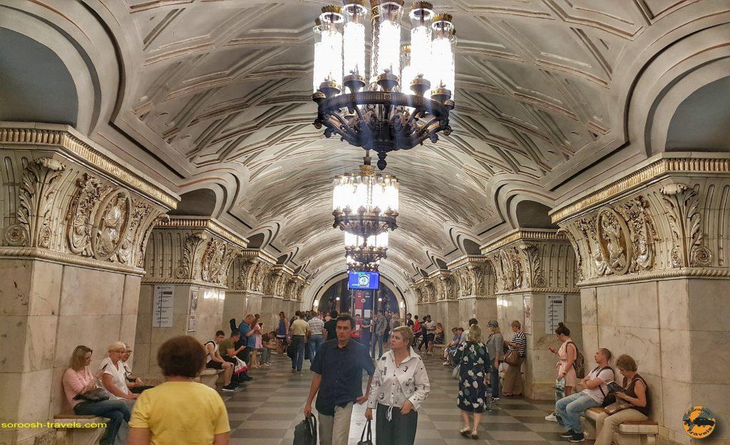 مترو شهر مسکو - تابستان 1398 2019