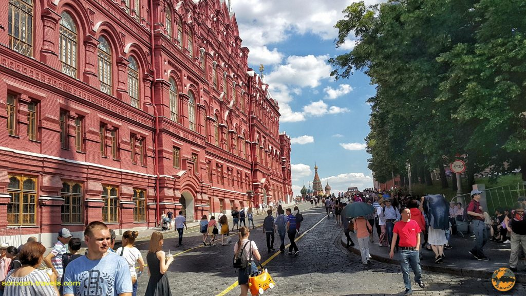 پشت میدان سرخ در مسکو - تابستان 1398