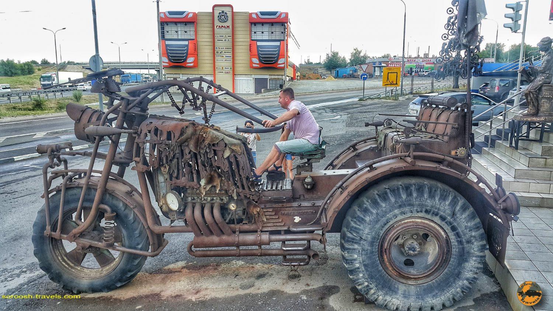 ورودی کلوب موتورسواران در کامنسک شاختینسکی - روسیه - تابستان 1398 2019
