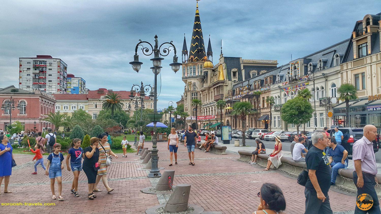 میدان اروپا در شهر باتومی در گرجستان - تابستان 1398 2019