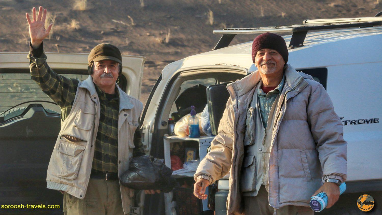 سروش مطهر و جواد نصیری در کویر ریگستان - آذر 1398 2019