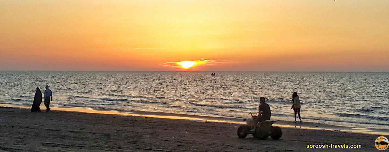 ساحل دریای خزر در فریدونکنار - بهار 1399 2020