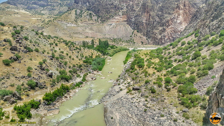 مناظر از فراز پل معلق پیرتقی - تابستان ۱۳۹۹