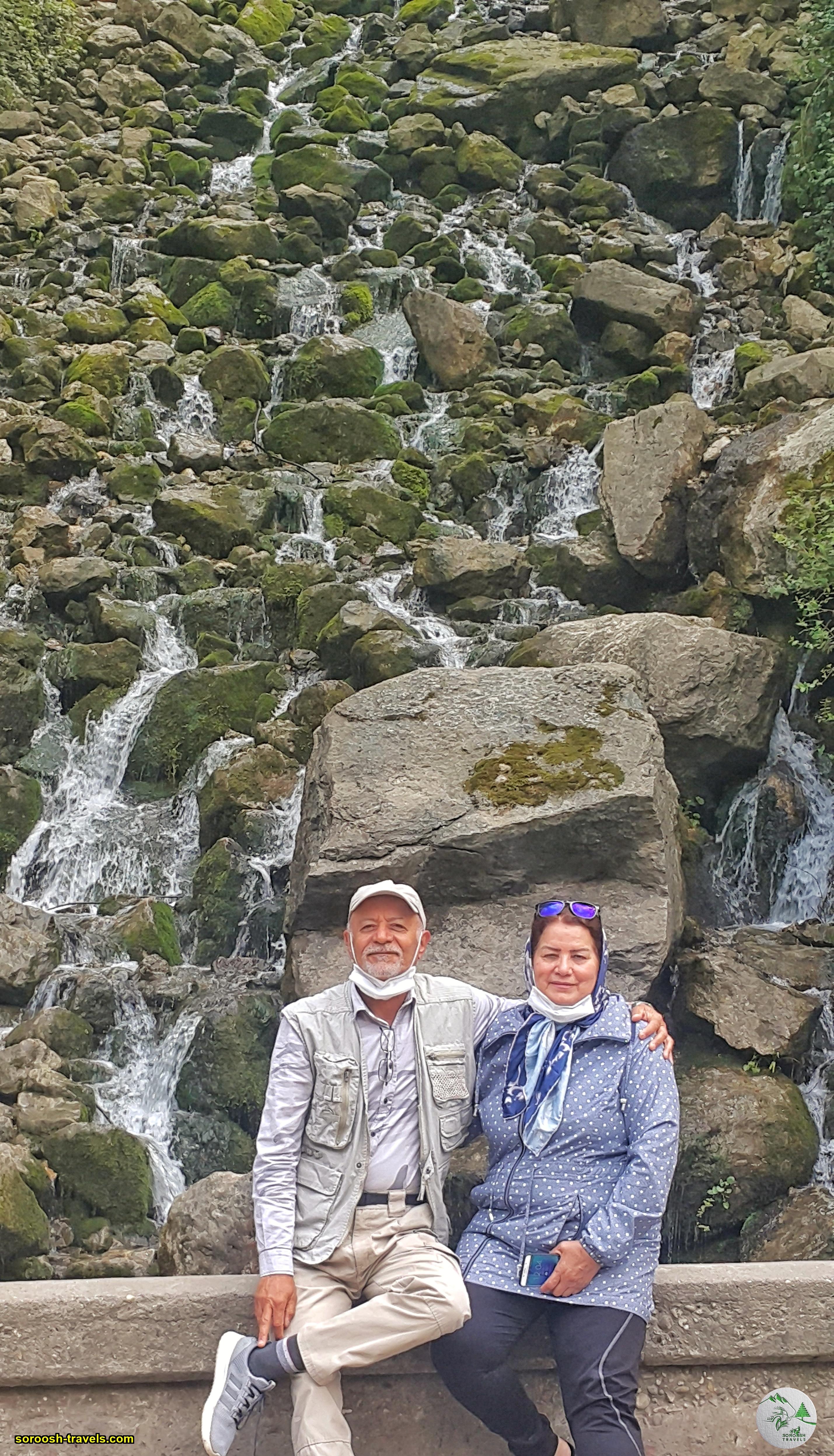 آبشار آب پری در مسیر رویان به کجور - نوروز 1400
