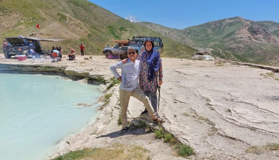 چشمه دیوآسیاب در دشت لار - تابستان 1400 - 2021