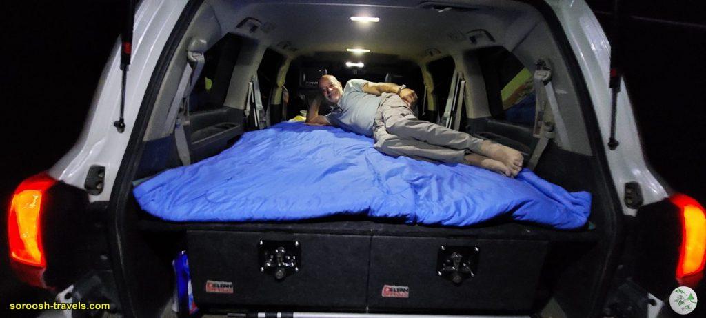 محل خواب در ماشین - کویر ورزنه - تابستان 1400 - 2021